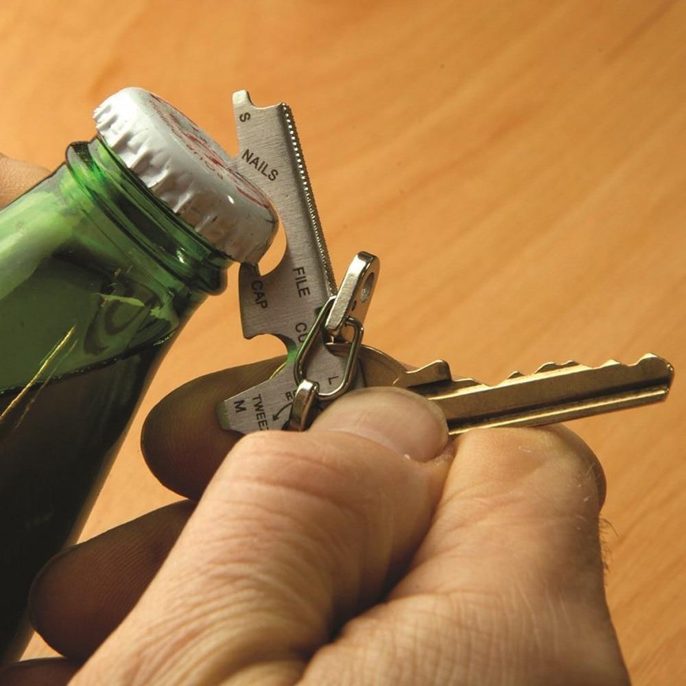 Multifunción 8in1 al aire libre de acero inoxidable Abridor de botellas herramienta...