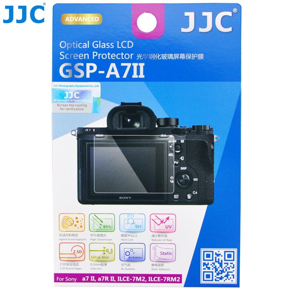 JJC דק LCD מסך מגן 9H מצלמה תצוגת כיסוי עבור SONY a7 השני a7 III a7R השני a7R III a7R IV a7S השני α9 a9 השני ZV-1
