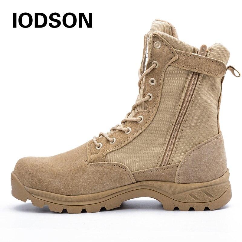أحذية بوت قتالية تكتيكية عسكرية للأماكن المفتوحة من اليود للرجال أحذية سلامة للعمل والتدريب في الجيش قارب صحراوي