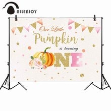 Allenjoy photographie toile de fond citrouille premier anniversaire fête automne décor fond photobooth photocall professionnel photo shoot