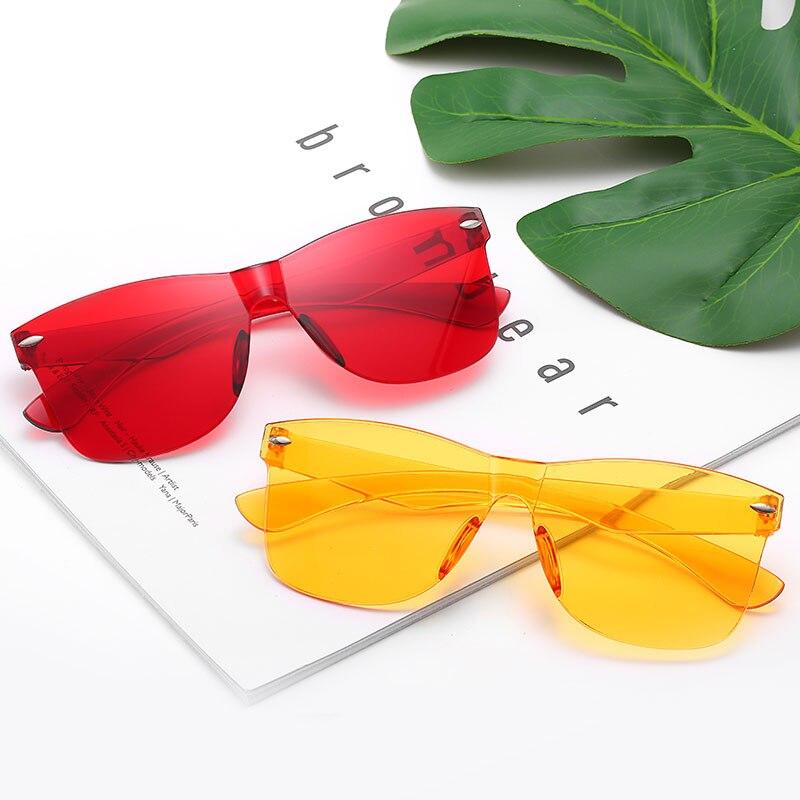 HJYBBSN Square Women Sunglasses Tinted Color Lens Men Vintage Shaped Sun Glasses Female   Eyewear Su