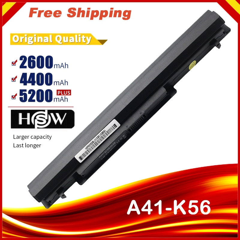 4400mAh 8 خلايا بطارية كمبيوتر محمول ل Asus K56C A46C S550C S46 S46C K56V K56CA/CB/CM S56C E46C K46C A31/A32/A42/A41-K56