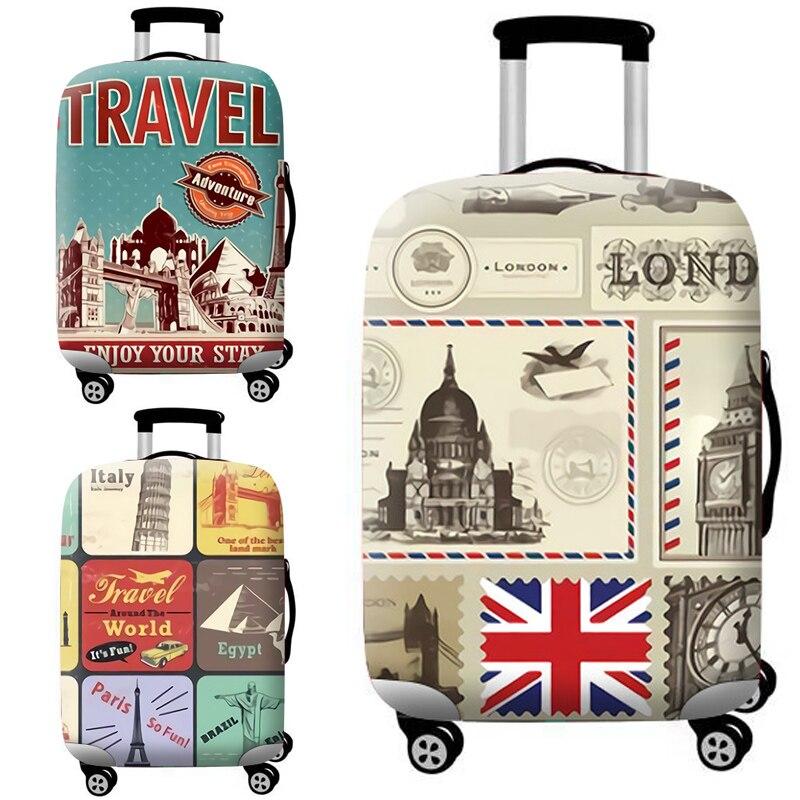 TLDGAGAS 3D tela elástica Digital cubierta protectora de equipaje traje 18-32 pulgadas maleta cubierta accesorios de viaje