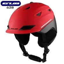 Gub capacetes de esqui quente adulto homens e mulheres leves capacetes protetores esportivos equipados com capacetes de neve inverno