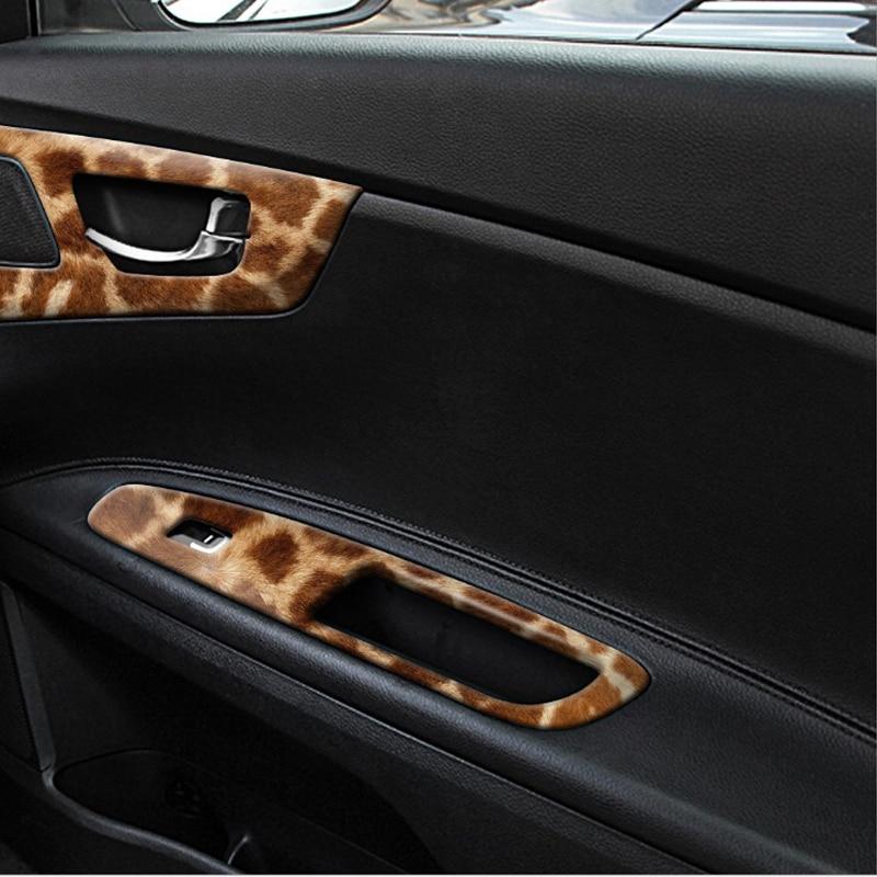 30*200Cm Styling Leopard Print Marble Pattern Stickers Car Interior Body Film Refitting Sticker Adhesive Center Console Vinyl