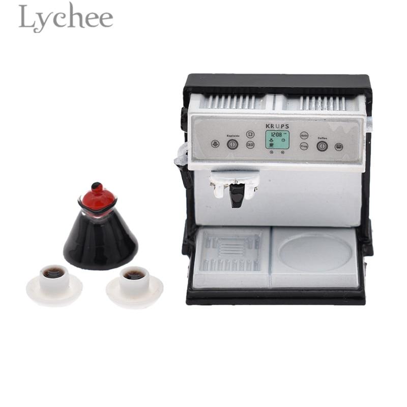 Личи кофе машина миниатюрный мини кофе чашка украшения Кукольный дом украшения