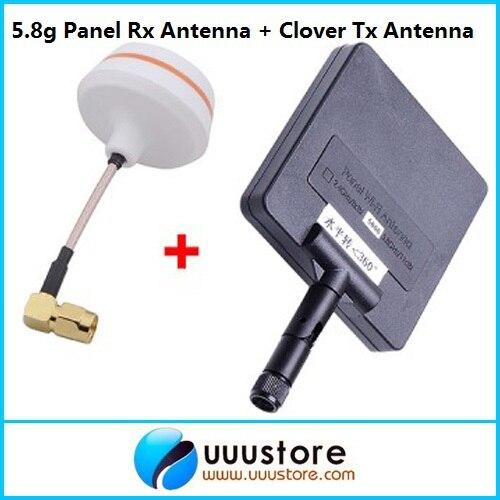 Antenne de panneau de FPV 5.8G 5.8ghz 11dBi w/antenne femelle de TX-SMA à Angle droit de 5.8G