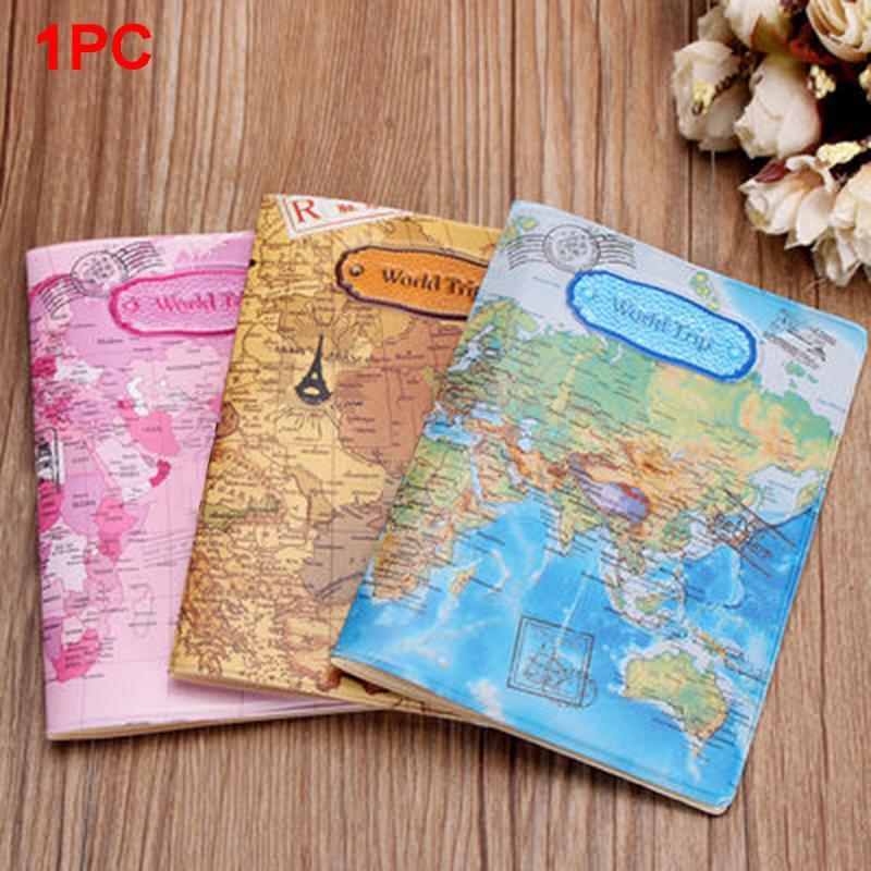 Лидер продаж, чехол для паспорта с картой мира, чехол для паспорта из ПВХ, брендовый держатель для паспорта, папка для документов