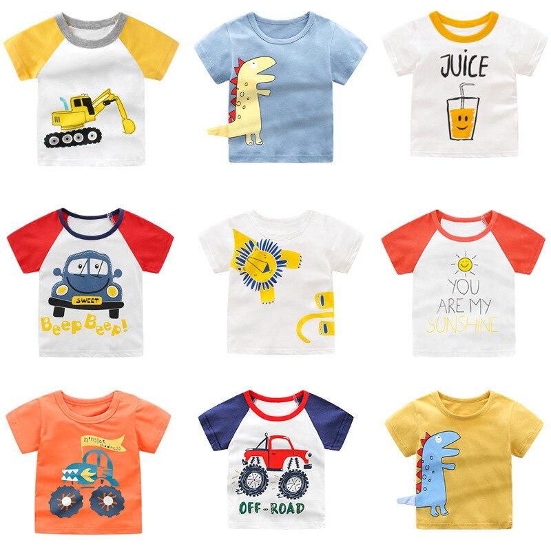 New Children's T-shirt Short Sleeve Boy Korean Kids Clothes Baby Tops Cartoon Baby Boy Summer Clothes