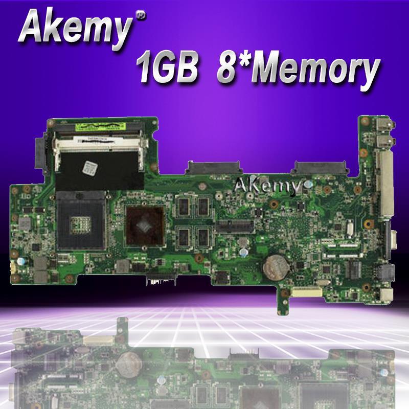 Placa base para ordenador portátil AKemy K72JT para ASUS K72JR K72JT k72jj K72 placa base original de prueba HD5470 1GB 8 * memoria