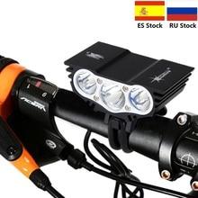 4 모드 1500 Lm 3 LED 램프 구슬 6400mAh 배터리와 자전거에 대 한 전면 자전거 자전거 라이트 사이클링 라이트 램프 액세서리
