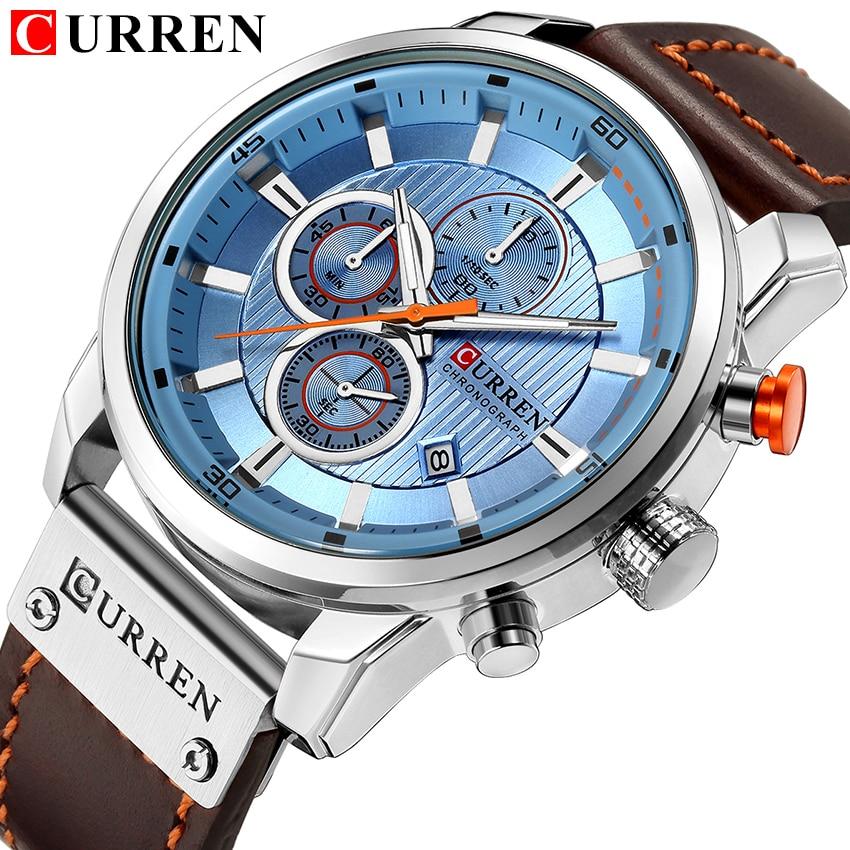 Top Brand Luxury Chronograph Quartz Watch Men Sports Watches Military Army Male Wrist Watch Clock CU