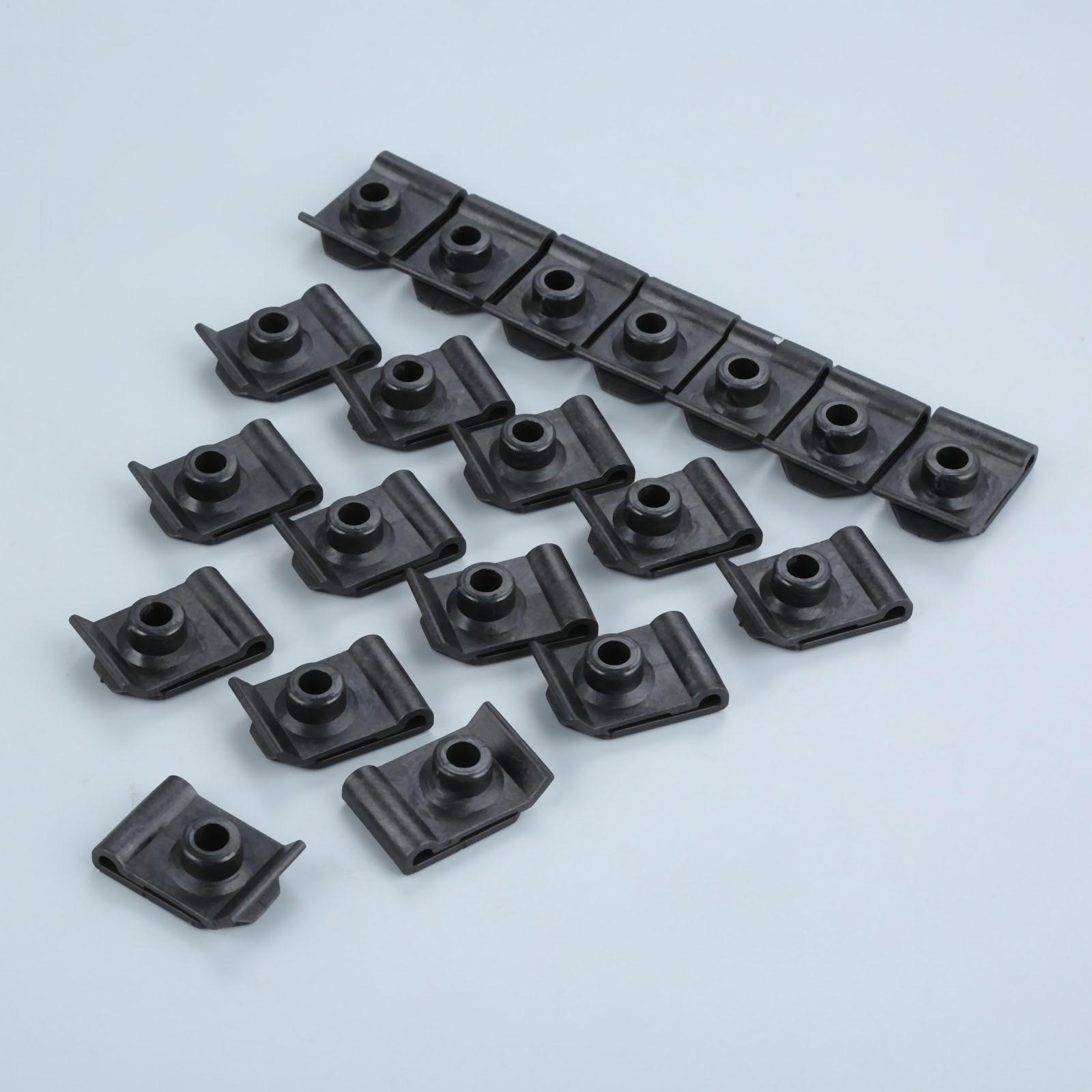 20Pcs U Nut #10 Screw Grommet Clip Nylon Nut Screw Grommet Fender Liner Retainer Clip Fit For Toyota Lexus 90179-05060