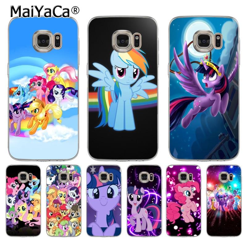 MaiYaCa Binful Magia My Little Pony linda Acessórios Do Telefone Caso tpu macio para samsung galaxy s7 s6 edge plus s5 s8 s9 mais caso