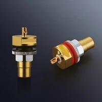 viborg 4pcs rc101g pure copper gold plated rca socket solder rca female socket hifi