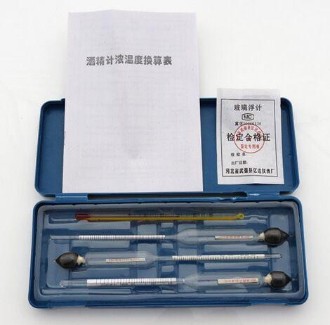 Спиртовой измеритель, 3 шт. + 1 гидротермограф для дистиллятора, спирта, бесплатная доставка