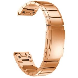 26 22 20mm Watchband For Garmin Fenix 6 6X Pro 5 5X Plus 3HR STAINLESS STEEL Band Fenix6 Fenix5 Watch Quick Release Wrist Strap