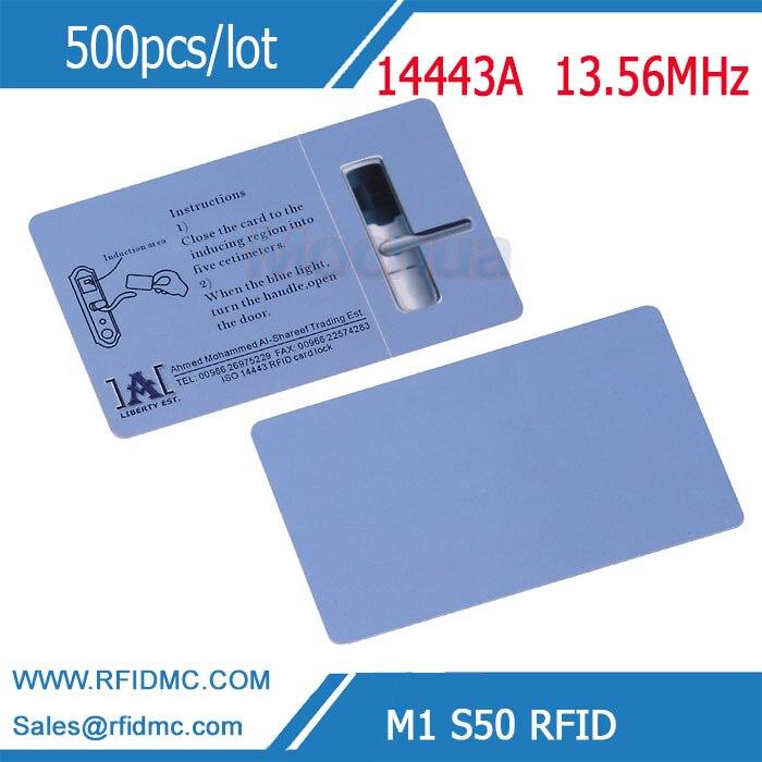 Cartão de impressão personalizado com a microplaqueta clássica 13.56mhz iso14443a mf1 1k s50 de m1