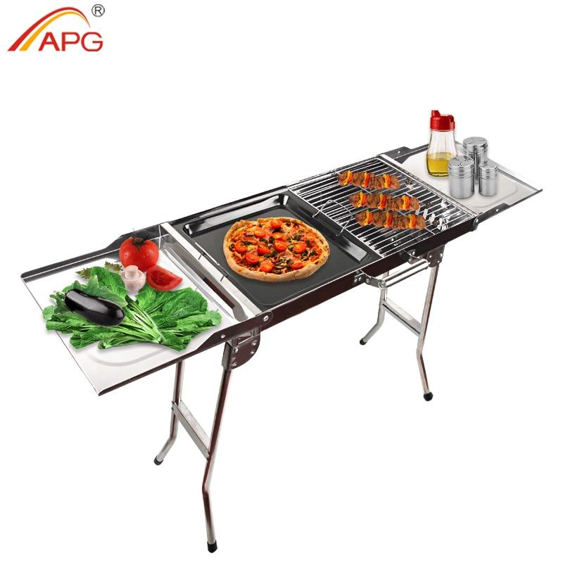 APG portátil plegable barbacoa estufa barbacoa horno al aire libre Camping hogar carbón barbacoa parrilla carbón horno