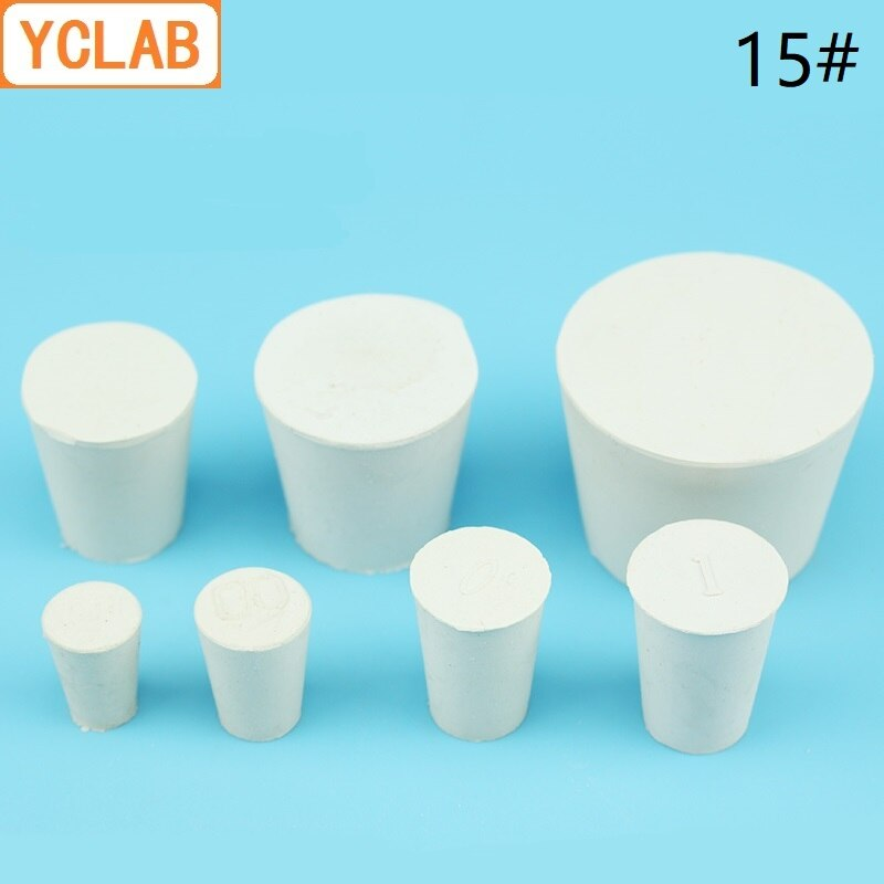 YCLAB 15# Rubber Stopper White for Glass Flask Upper Diameter 81mm * Lower Diameter 68mm Laboratory Chemistry Equipment