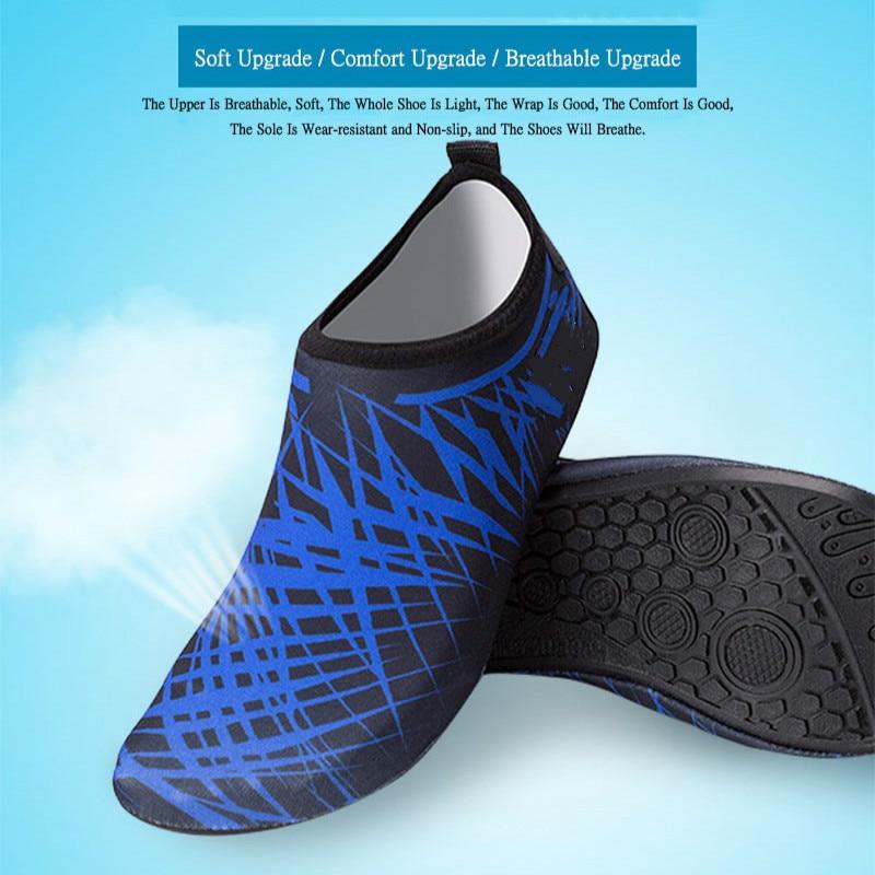 Nuevos zapatos de gimnasio Unisex playa al aire libre Camping zapatos planos suaves zapatos de agua para nadar para mujeres zapatillas transpirables antideslizantes