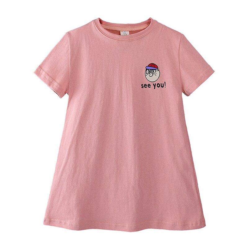 Платье-футболка для девочек WASAILONG, платье с принтом куклы из мультфильма, Корейская версия платья для девочек, лето 2019