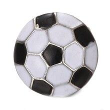 10 pcs/lot nouveau sport Snap bijoux 18mm Snap boutons bijoux accessoires fit Snap Bracelet bracelets Football bijoux
