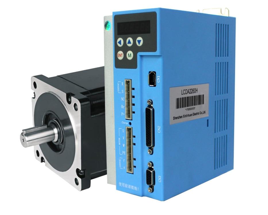 9nm 3 phase nema 34 circuito fechado stepper servo motor driver kit ac220v digital fácil servo driver lcda2260h e motor lc86h3129
