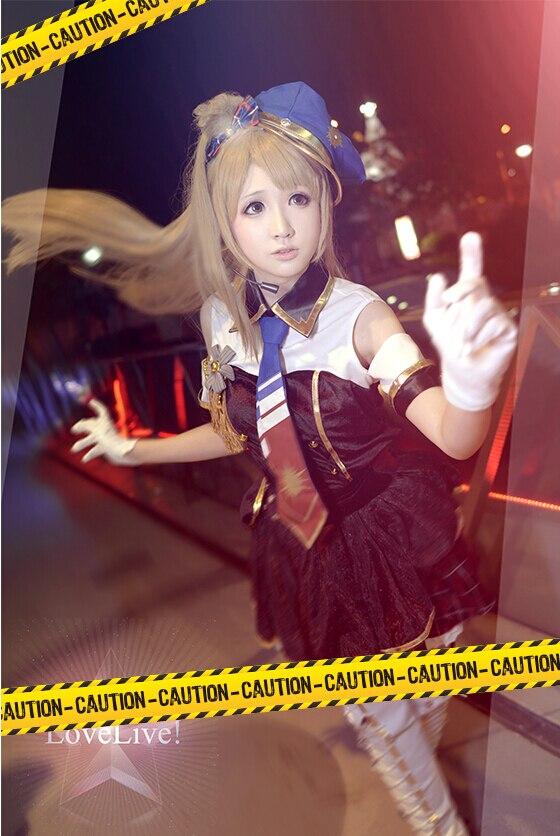 Lovelive UR Polizistin Liebe-live Schule Idol Projekt Kotori Minami Cosplay Blau Kleid Awakening Uniform Kostüm Mit Hut