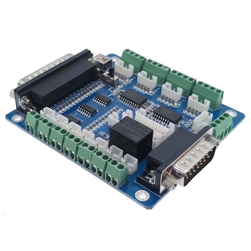 Плата драйвера с ЧПУ USB MACH3 100 кГц коммутационная плата 5 осевой интерфейс драйвер motion контроллер