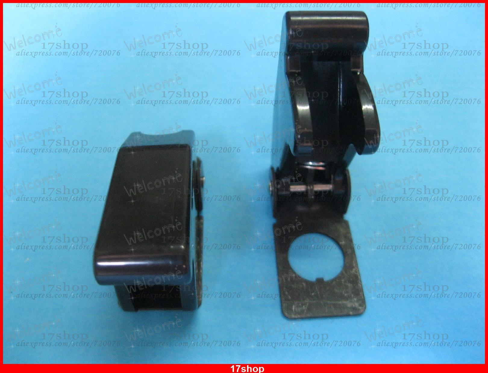 20 piezas cubierta de seguridad negra opaca para interruptor de palanca