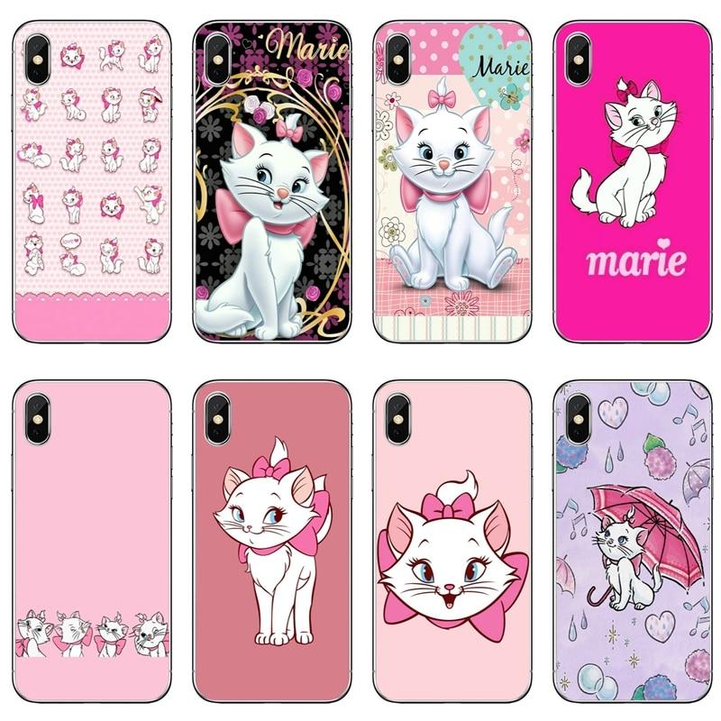 Funda de teléfono suave rosa Marie aristocats gato disparo para Huawei P20 P10 P9 P8 pro Lite plus pro P Smart mini GR5 nova 2i