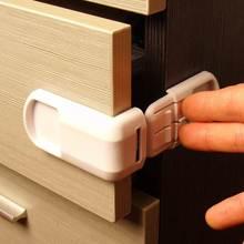 5 Pcs/Lot Child Lock Baby Drawer Safety Lock Convenient Functional Kids Door Fridge Safety Lock Toilet Closet Plastic Lock