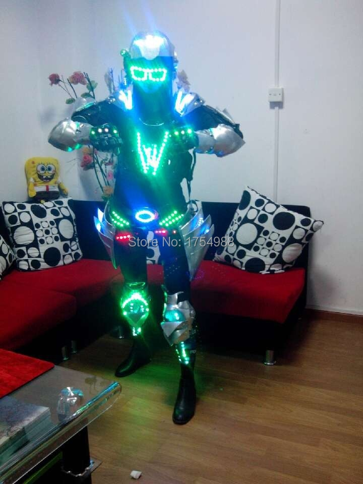 party supply led robot costume LED Robot suits Luminous armour Stage Dance Wear Novelty Special Use