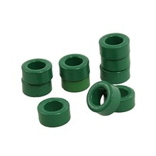 Uxcell nouvelle offre spéciale 10 pièces transformateur inductance bobines pièces vert toroïde Ferrite noyaux 10mm x 6mm x 5mm alimentations