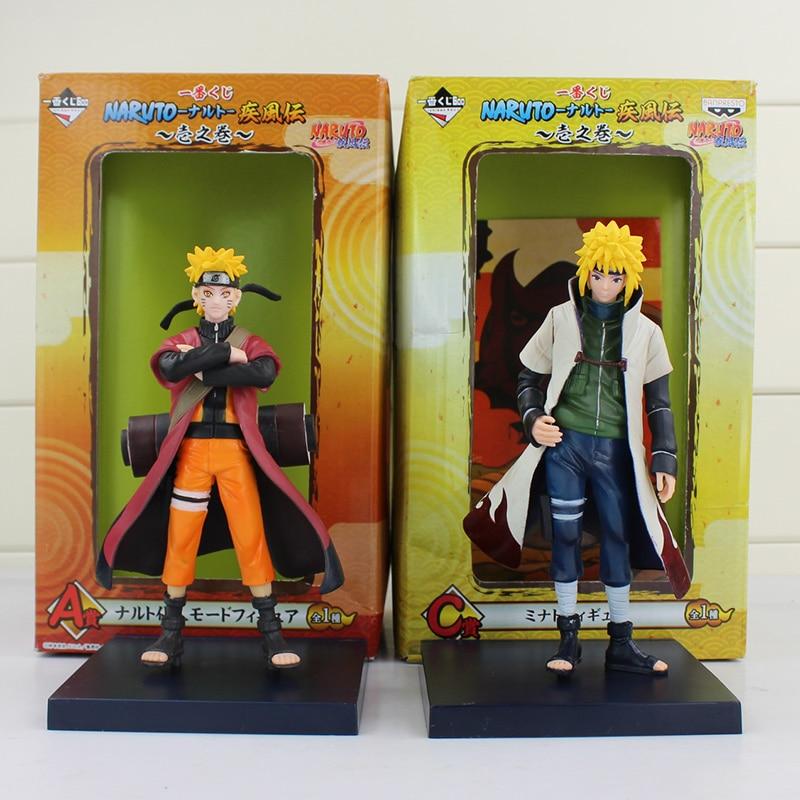 Figura de juguete Naruto Shippuden de 16cm Uzumaki Naruto namikaze Minato Yondaime Hokage padre e hijo muñeca coleccionable en miniatura