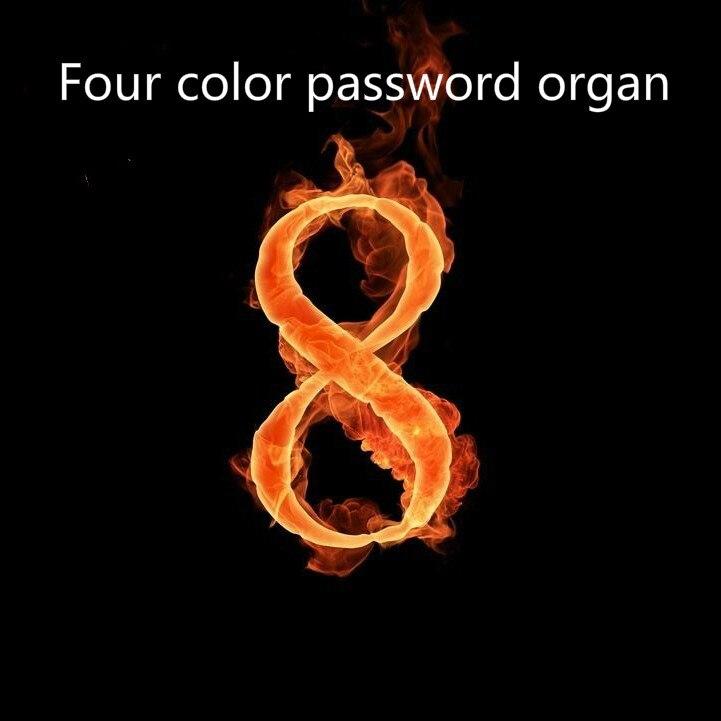 Cámara de los secretos accesorios de escape rey cuatro colores contraseña órganos fresco cámara de órganos Takagism aventura juego