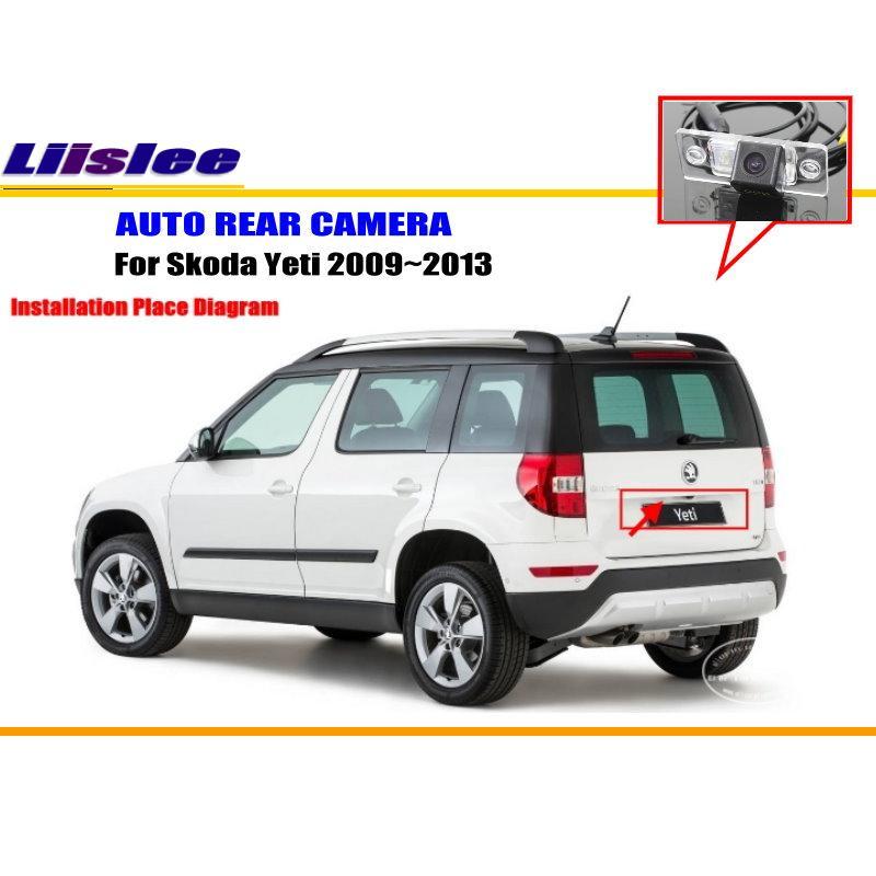 Автомобильная камера заднего вида для Skoda Yeti 2009 2010 2011 2012 2013 Автомобильная резервная камера заднего вида Автомобильные аксессуары Автомобил...