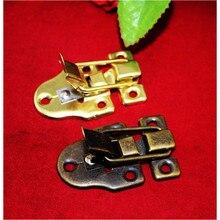 Boîte de poitrine en métal Antique   Serrure Vintage, boîte de bijoux, boîte cadeau, valise boucles bascule loquet loquet, fermoir de capture, 56*40mm,5 ensembles