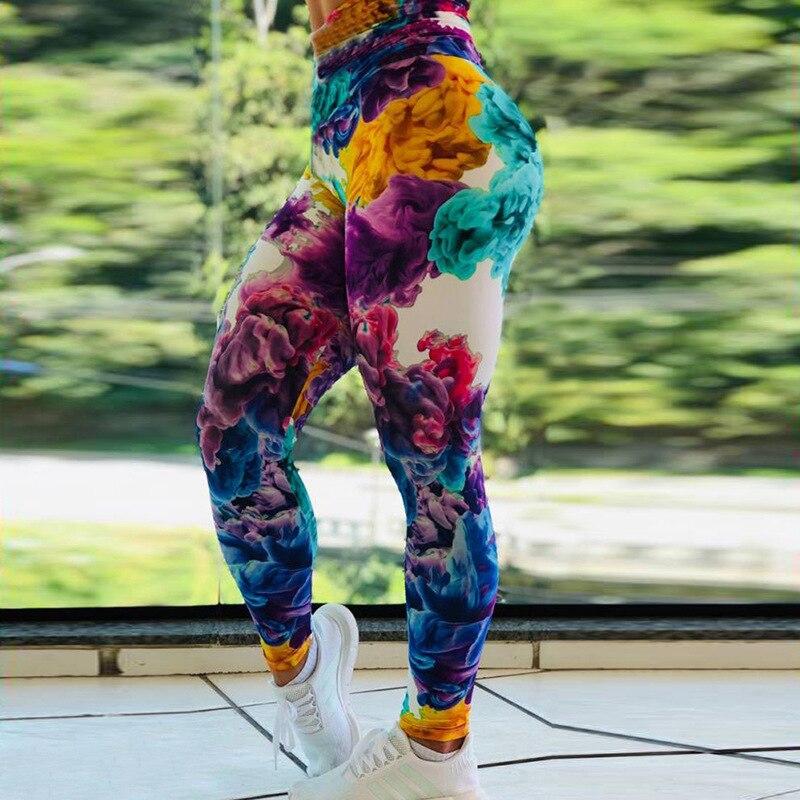2019New llegada mujeres Dreamweb polainas agua sudor chica gimnasio botín Leggins
