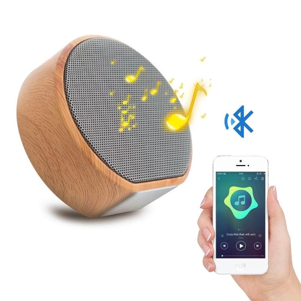 Mini Tragbare Holzmaserung Stereo Outdoor Mini Bluetooth Drahtlose Subwoofer Lautsprecher für Hause Dusche Bad Pool Auto Strand Neue