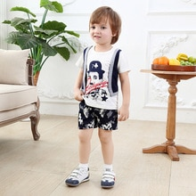 Baby Boy Christening Outfit Boy Clothing Gentleman Psg 2019 Summer Suit Kids Clothes Short Children'
