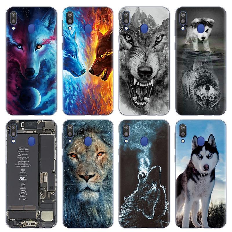 Lobo Coque TPU para Samsung Galaxy A10 A30 A50 M20 M10 M30 Nota 8 9 4 5 A5 2016 2017 A6 A7 A8 A9 S8 S9 S10 Plus 2018 caso de la cubierta