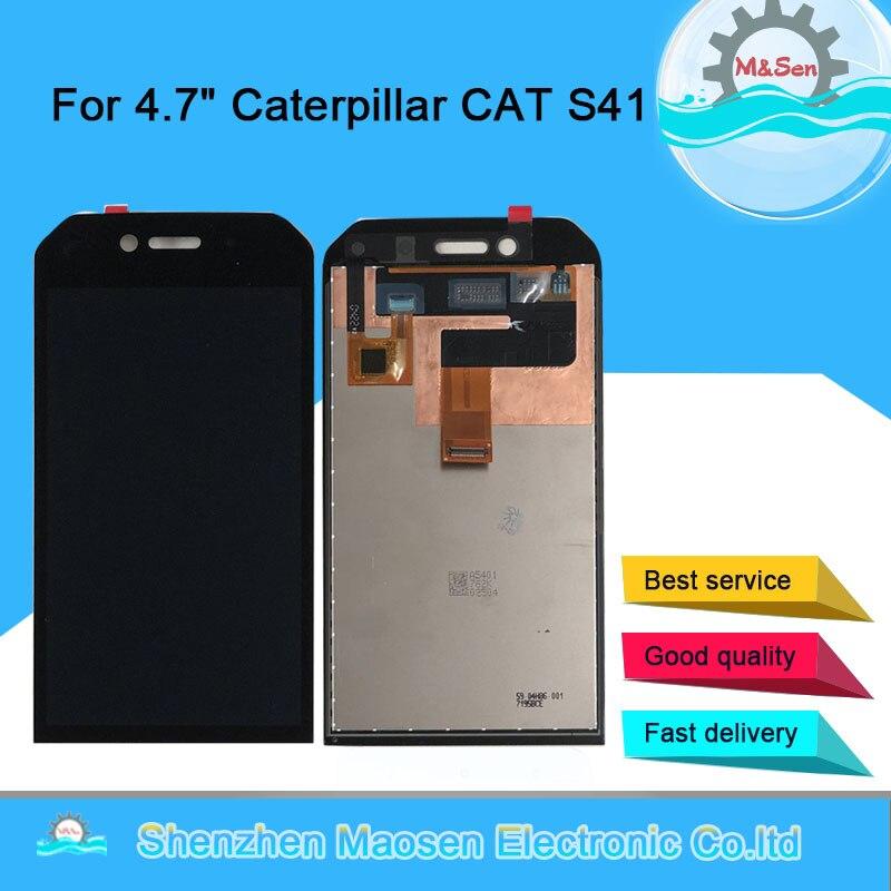 """4,7 """"Оригинальный M & Sen для гусеницы CAT S41 ЖК-экран + сенсорная панель дигитайзер для CAT S41 сборка ЖК-дисплей"""