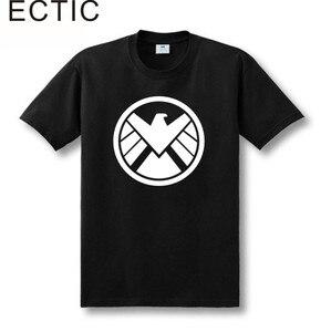 Agents of SHIELD T Shirt Print Logo 100% Cotton Custom Personalized Short Sleeve Men Tee Shirt free shipping