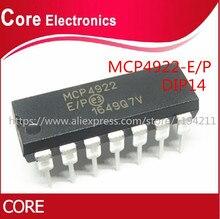 5pcs MCP4922-E/P MCP4922 4922-E/P DAC 12BIT DUAL W/SPI 14DIP Best qualità