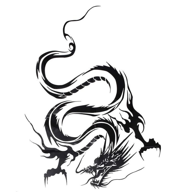 Виниловая пленка на капот автомобиля, китайский дракон, наклейка на голову, графическая пленка на голову, наклейка для гоночного спорта, Отражающая виниловая наклейка для автомобиля, Стайлинг