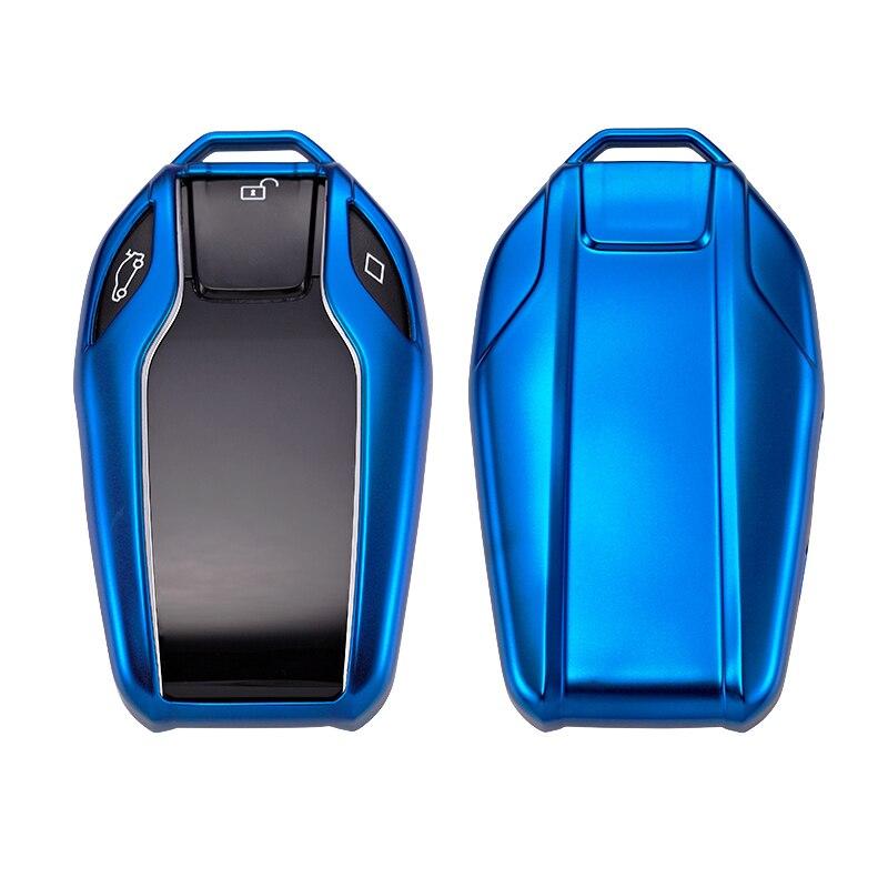Carcasa blanda para llave de coche para BMW 7 Series i8, llave inteligente para 730li 740li 750li, diseño de llave de coche con llavero de coche