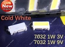 500PCS/Lot 7032 1W 3V 9V SMD Side LED Beads Cold White For TV/LCD Backlight