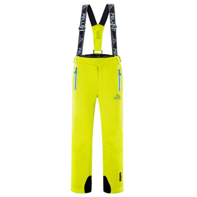 Зимние лыжные брюки Pelliot, водонепроницаемые мужские и женские лыжные штаны на подтяжках, дышащие теплые штаны, бесплатная доставка